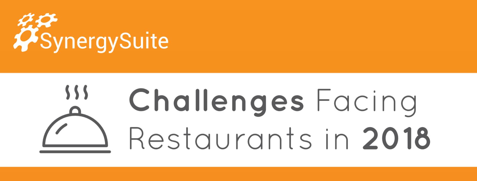 Challenges Facing Restaurants in 2018 Infographic header image