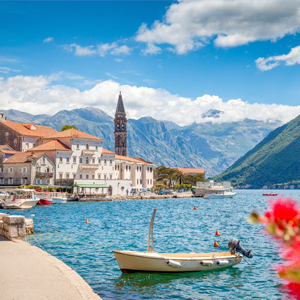 Montenegro Bay of Kotor in summer