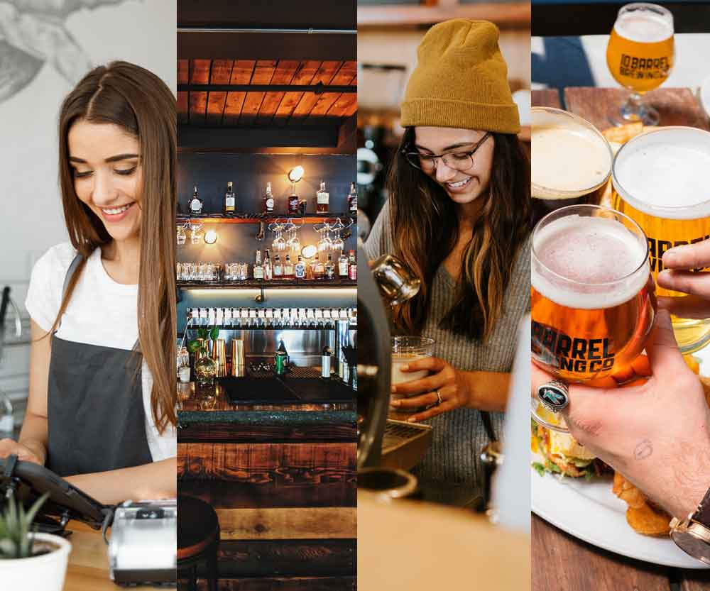 4 rectangles about All In One Restaurant Management Software