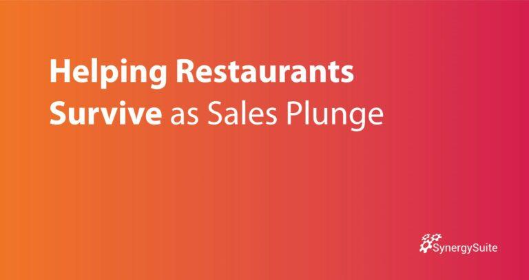 Helping Restaurants Survive as Sales Plunge
